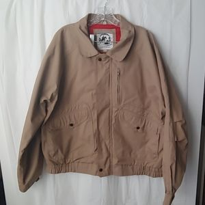 Tan Xl Saddlery Jacket/windbreaker.